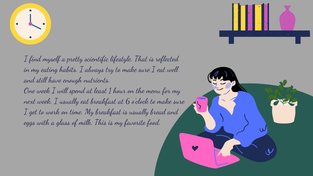 Mẫu bài viết về thói quen hàng ngày bằng tiếng Anh