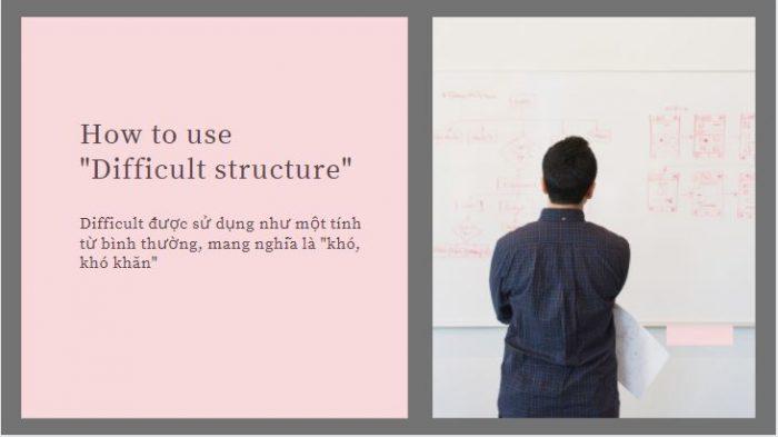 Cấu trúc Difficult và cách dùng trong tiếng Anh