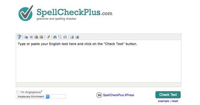 Giao diện của phần mềm tìm lỗi sai SpellCheckPlus