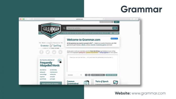 Website tìm lỗi sai Grammar.com