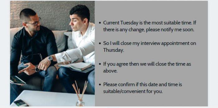 Đặt hẹn bằng tiếng Anh qua việc xác nhận
