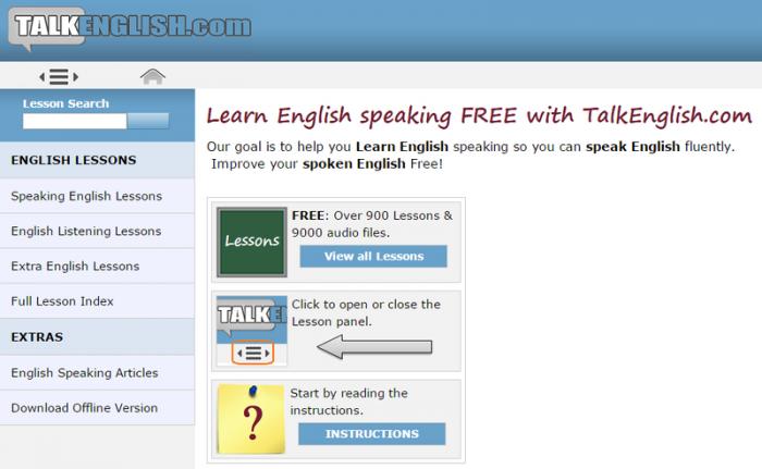 Trang web học từ vựng tiếng Anh TalkEnglish