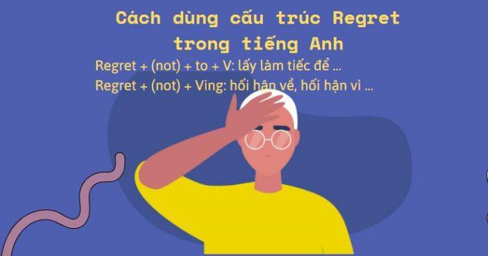 Cách dùng cấu trúc Regret trong tiếng Anh
