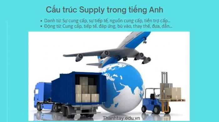 Cấu trúc Supply trong tiếng Anh