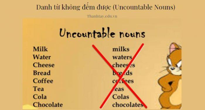 Danh từ không đếm được (Uncountable Nouns)