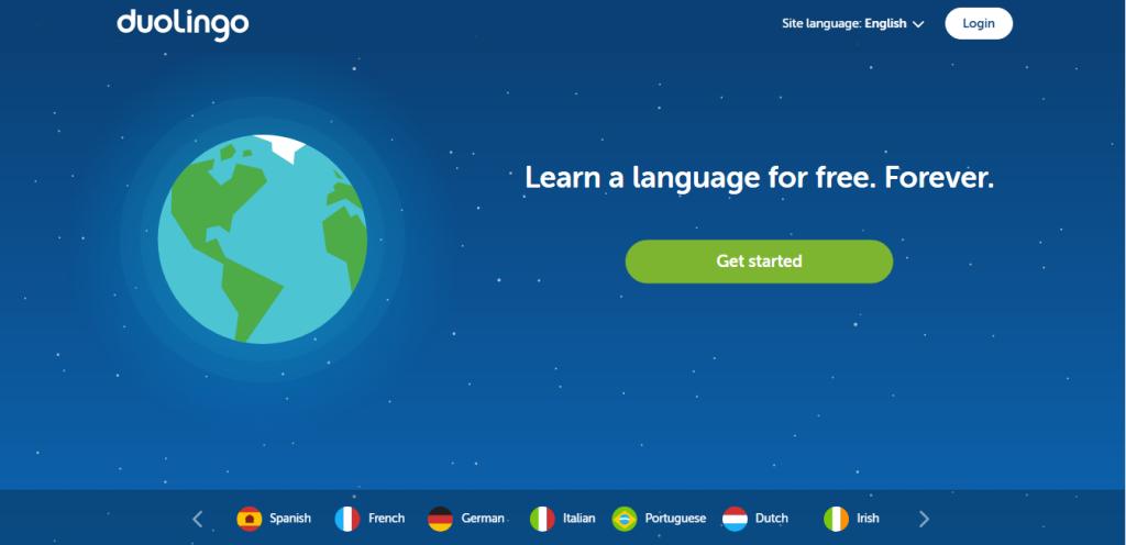 Trang web học từ vựng tiếng Anh miễn phí Duolingo