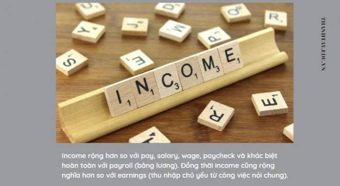 Nghĩa của từ Income trong tiếng Anh