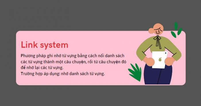 Phương pháp ghi nhớ từ vựng Xây dựng câu chuyện (Link system)