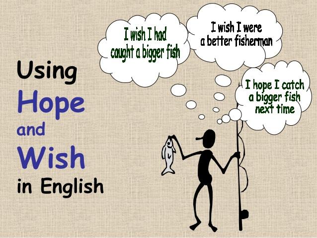 Phân biệt cấu trúc hope và wish