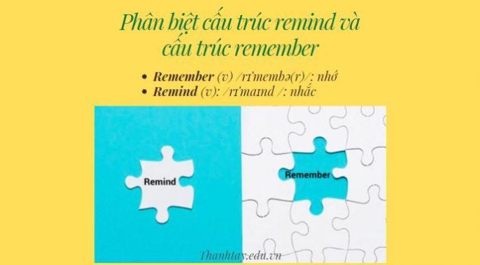 Phân biệt cấu trúc remind và cấu trúc remember