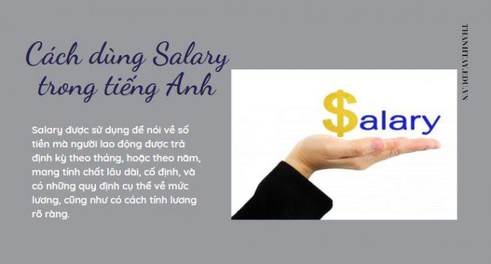 Cách dùng Salary trong tiếng Anh
