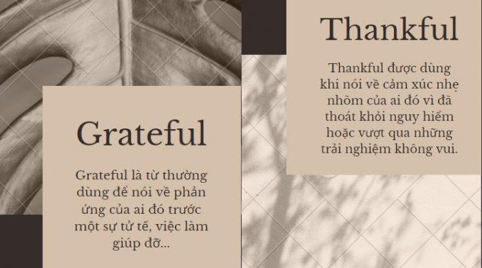 Phân biệt thankful và grateful