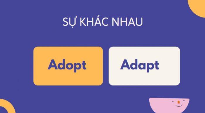 Sự khác nhau cách dùng giữa adopt và adapt trong tiếng Anh