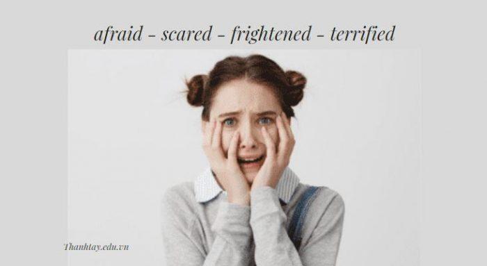 Một số từ đồng nghĩa với Terrified trong tiếng Anh