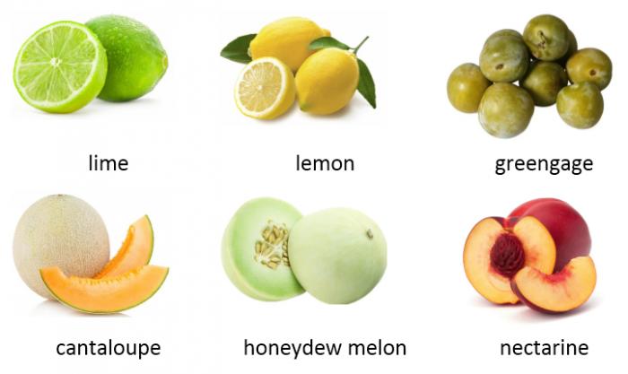 Từ vựng tiếng Anh theo chủ đề trái cây, rau củ