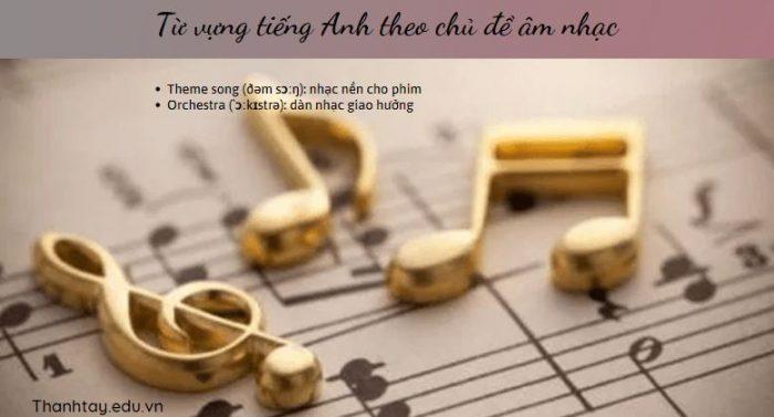 Từ vựng tiếng Anh theo chủ đề âm nhạc