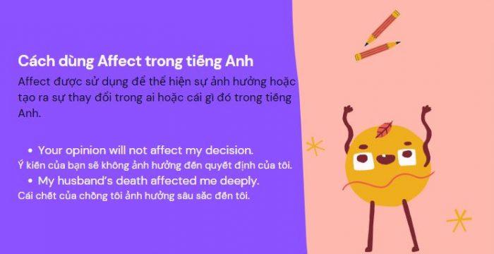 Cách dùng Affect trong tiếng Anh