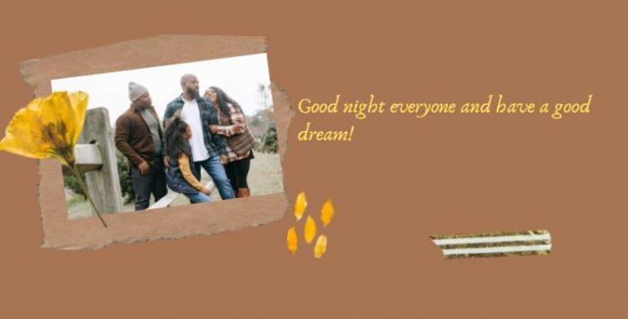 Lời chúc ngủ ngon bằng tiếng Anh cho gia đình
