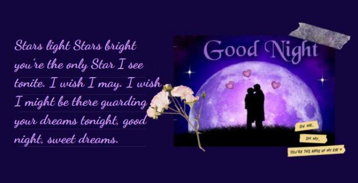 Lời chúc ngủ ngon tiếng Anh lãng mạn cho người yêu