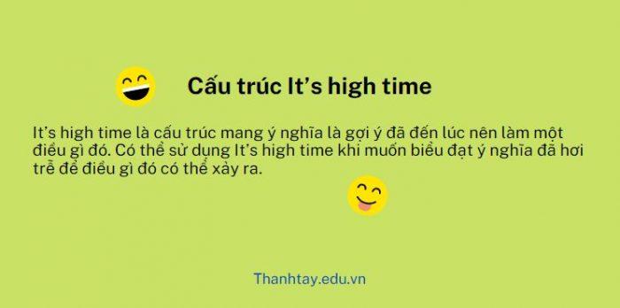 Cấu trúc It's high time
