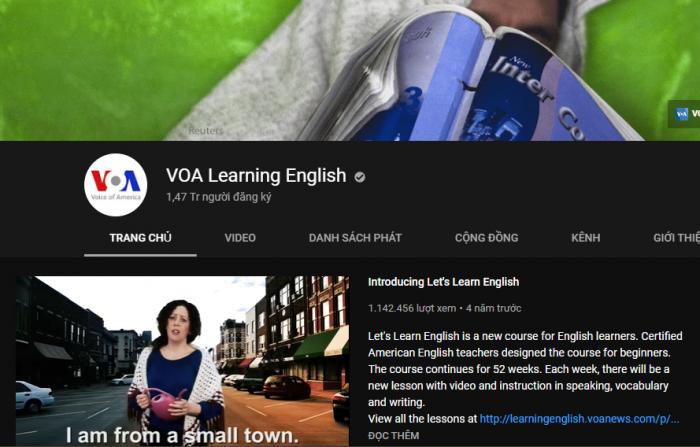 VOA Learning English – Chuyên trang luyện nghe nói tiếng Anh dành cho bạn