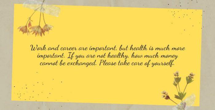 Lời chúc giữ gìn sức khỏe bằng tiếng Anh