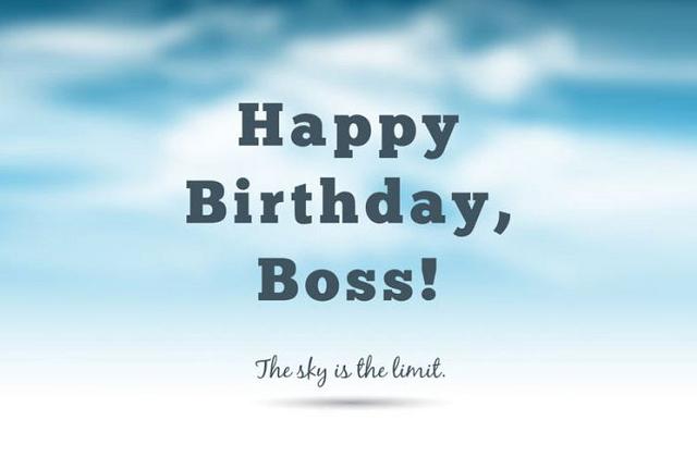 Lời chúc mừng sinh nhật dành cho sếp