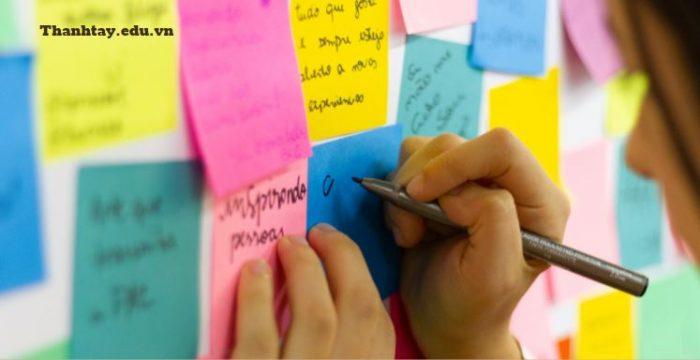 Sử dụng sticky notes để học từ vựng tiếng Anh