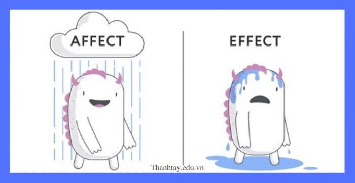 Sự khác nhau giữa Affect và Effect trong tiếng Anh