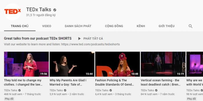 Kênh youtube học tiếng Anh ED-Ted