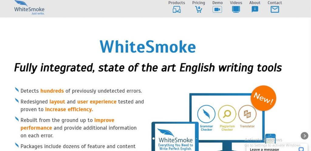 Website kiểm tra ngữ pháp WhiteSmoke