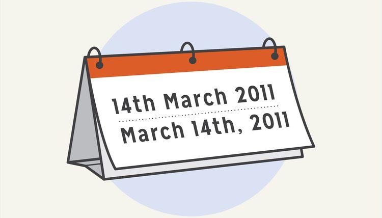 Cách đọc và viết thứ ngày tháng năm trong tiếng Anh