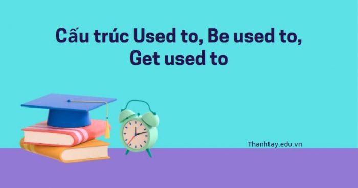 Cấu trúc Used to, Be used to, Get used to - Cách dùng và ví dụ chi tiết
