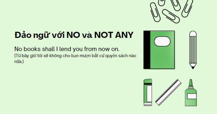 Đảo ngữ với NO và NOT ANY