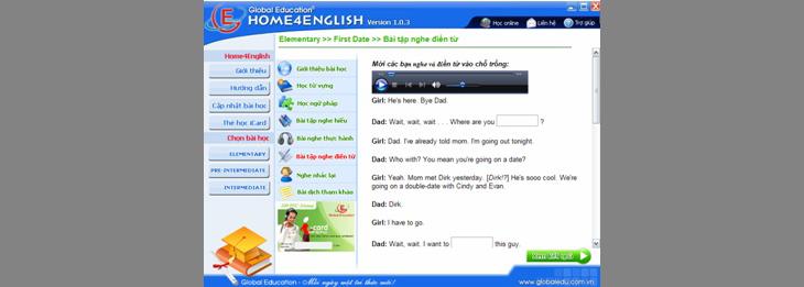 Phần mềm Home4English Full