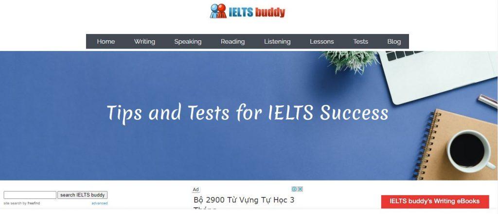 IELTS Buddy - website thi thử IELTS miễn phí