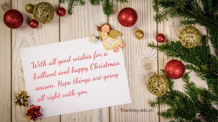 Lời chúc Giáng Sinh bằng tiếng Anh cho bạn bè