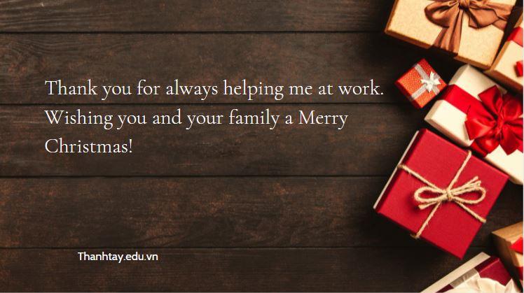 Lời chúc Giáng Sinh bằng tiếng Anh cho đồng nghiệp