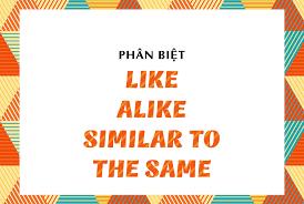 Phân biệt like, alike, similar to và the same