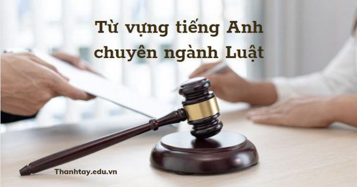 Tổng hợp từ vựng tiếng Anh chuyên ngành Luật đầy đủ nhất